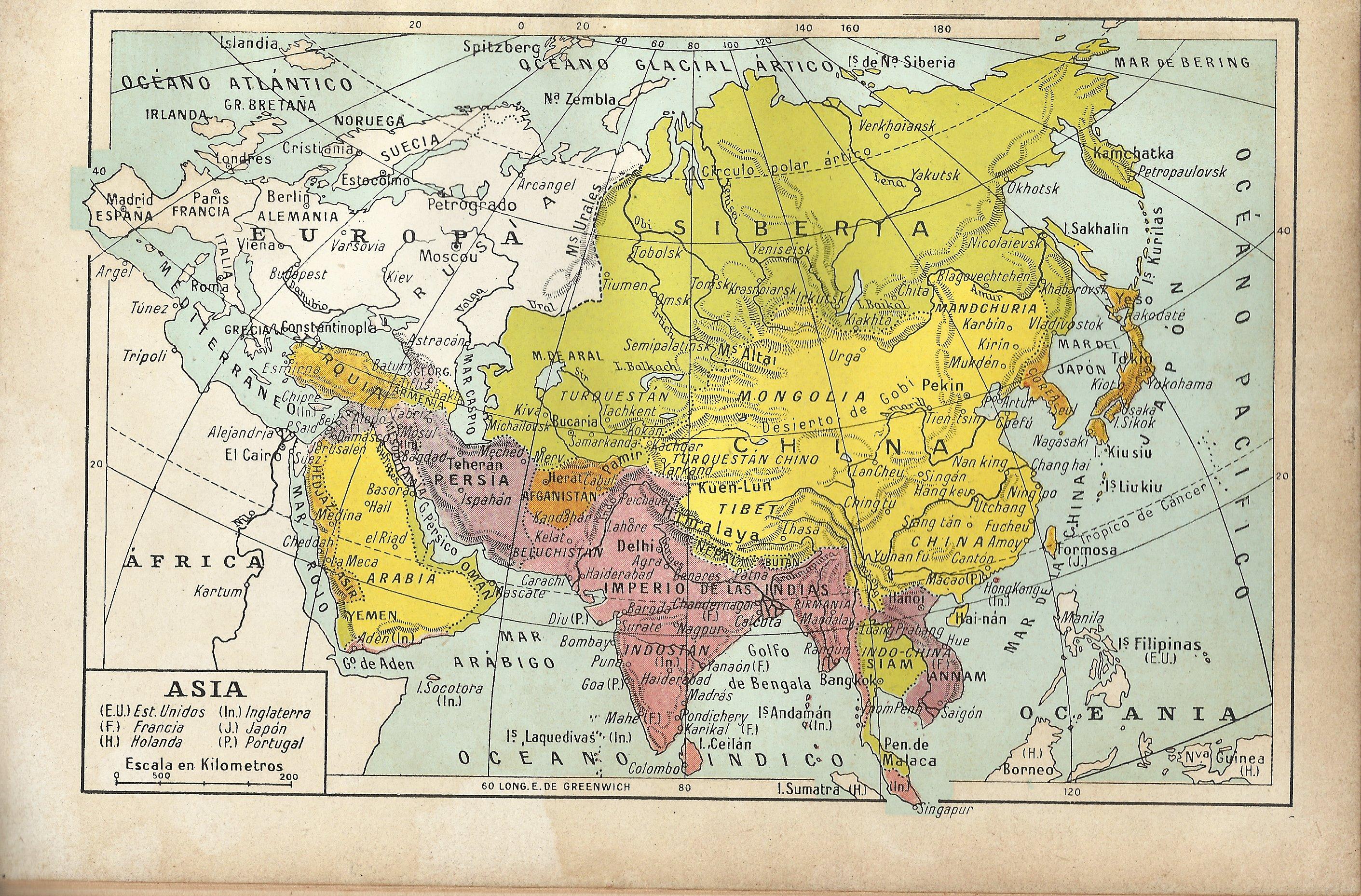 Mapa Europa Asia Africa